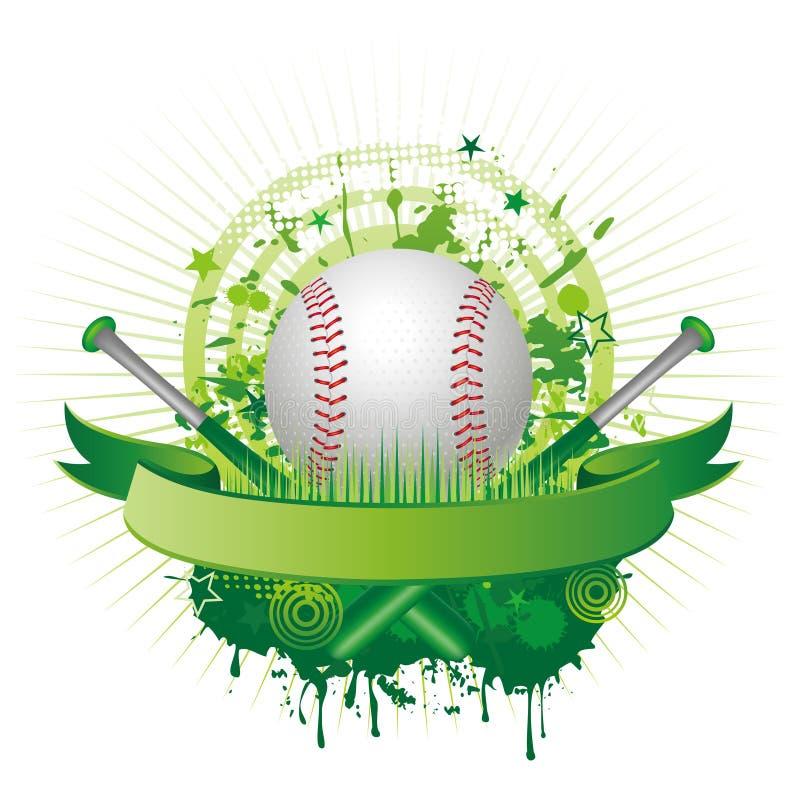 baseballsport royaltyfri illustrationer