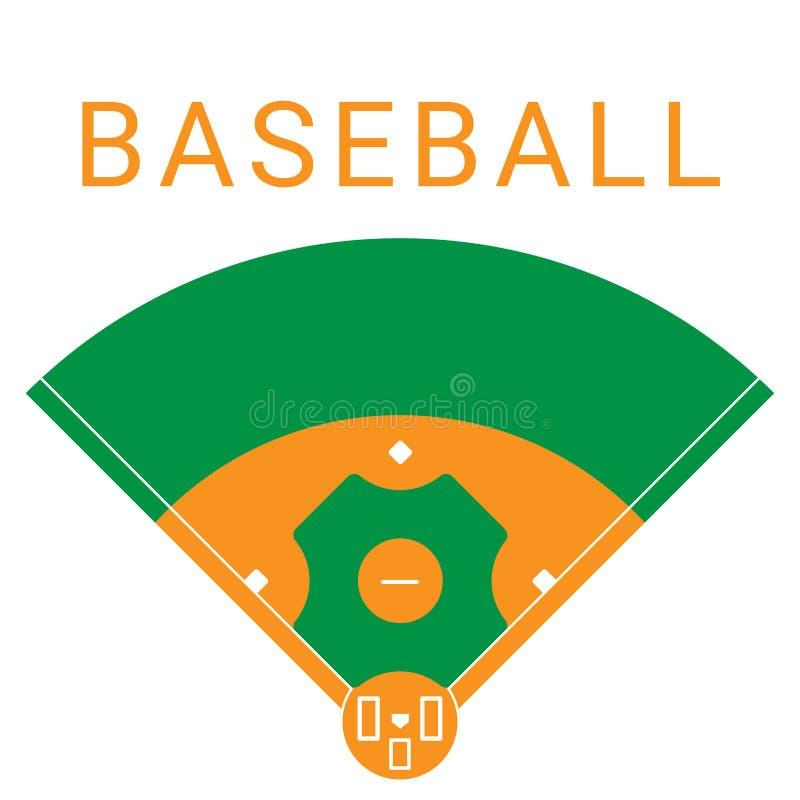 Baseballsportfält royaltyfri illustrationer