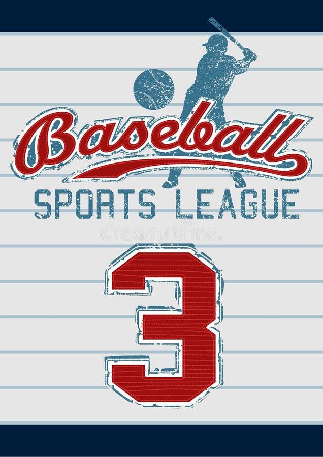Baseballsportliga royaltyfri illustrationer