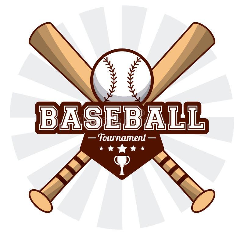 Baseballsportturnier-Schlägerball-Aufkleberbild lizenzfreie abbildung