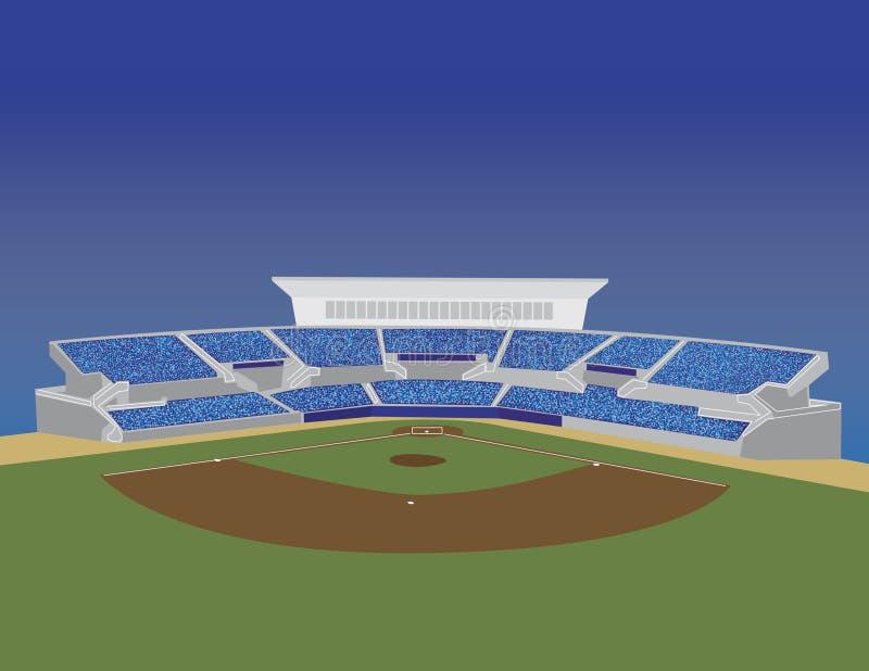 baseballstadionvektor stock illustrationer