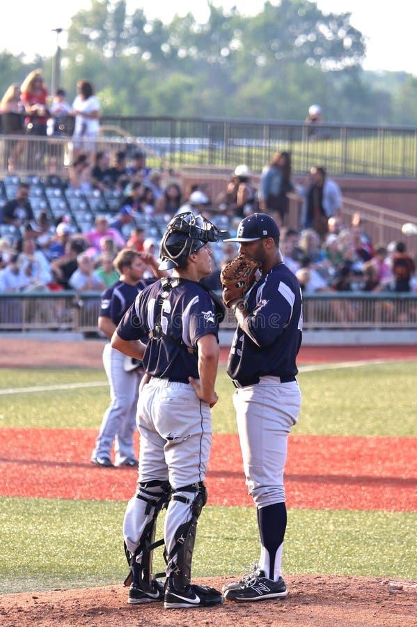 Baseballstrategi fotografering för bildbyråer