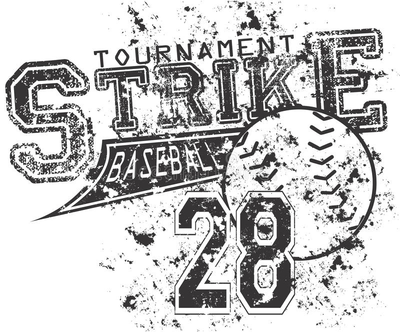 Baseballstreik stock abbildung