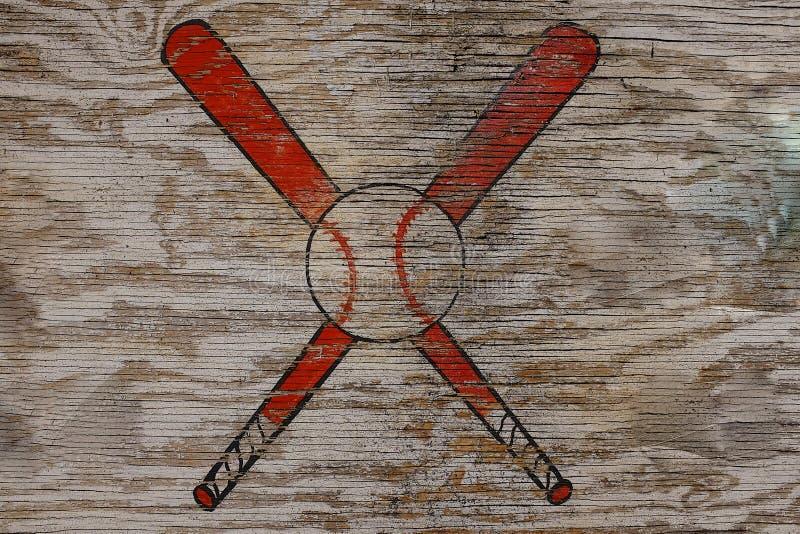 Baseballsymbol royaltyfri fotografi
