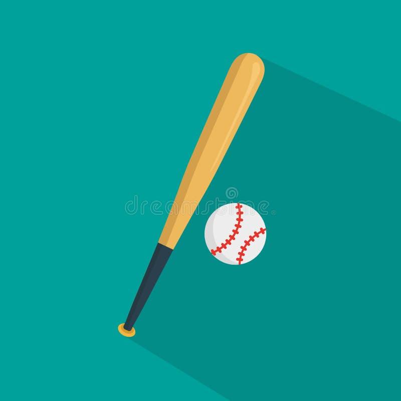Baseballsymbolsvektor stock illustrationer