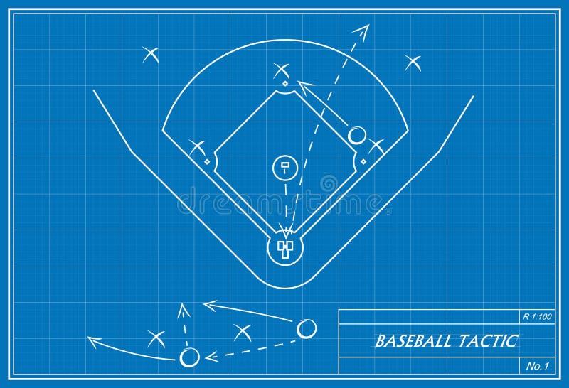 Baseballtaktik auf Plan vektor abbildung