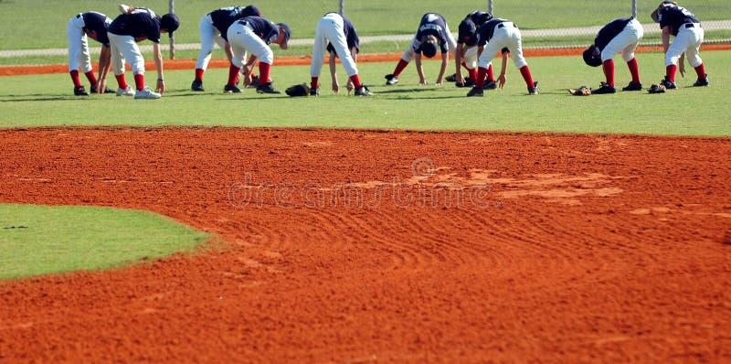 Baseballteamsausdehnung lizenzfreie stockfotografie