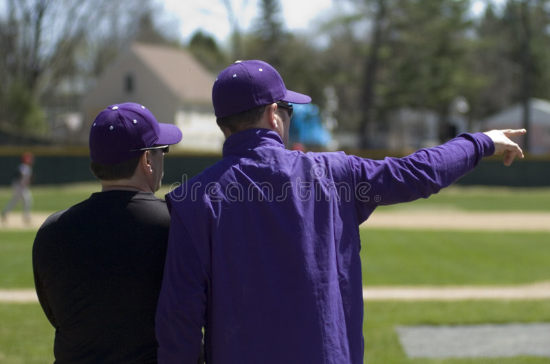 Baseballtrainer stockfotografie