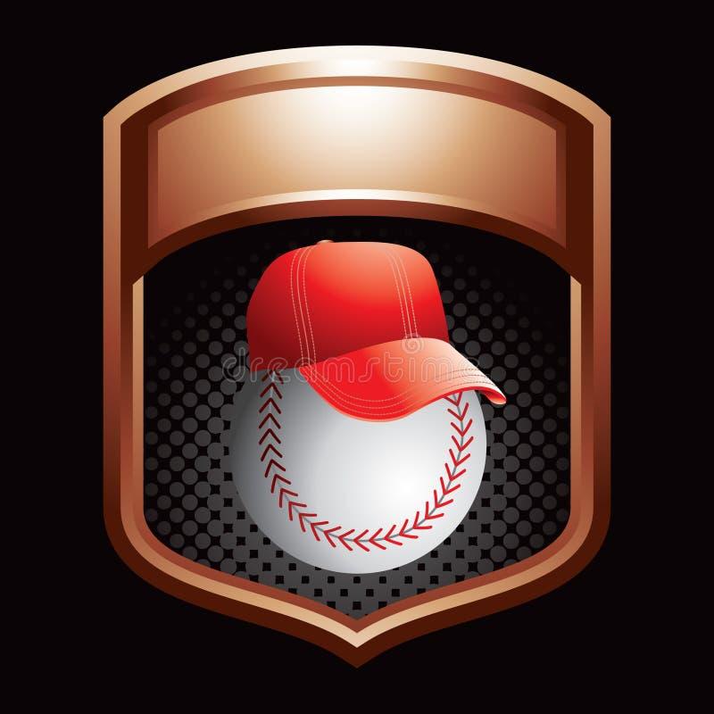 Baseballtrainer in der Bronzebildschirmanzeige lizenzfreie abbildung