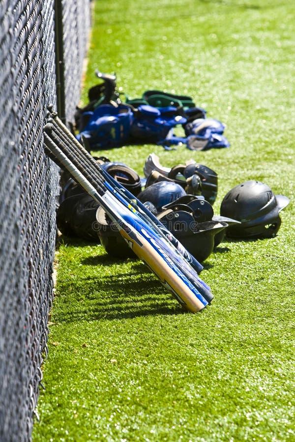 baseballutrustning royaltyfria bilder