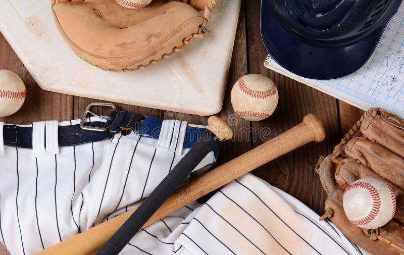Baseballutrustning royaltyfri bild