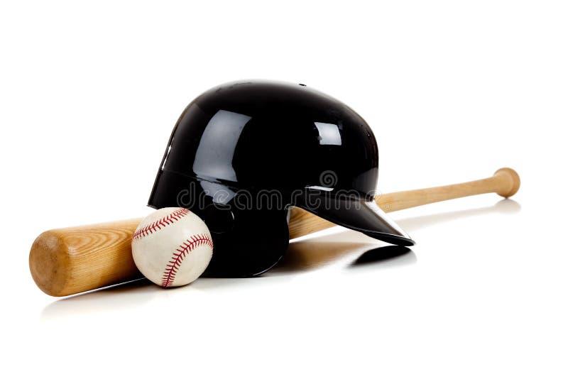 baseballutrustningwhite royaltyfri bild