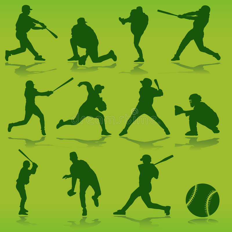 baseballvektor stock illustrationer