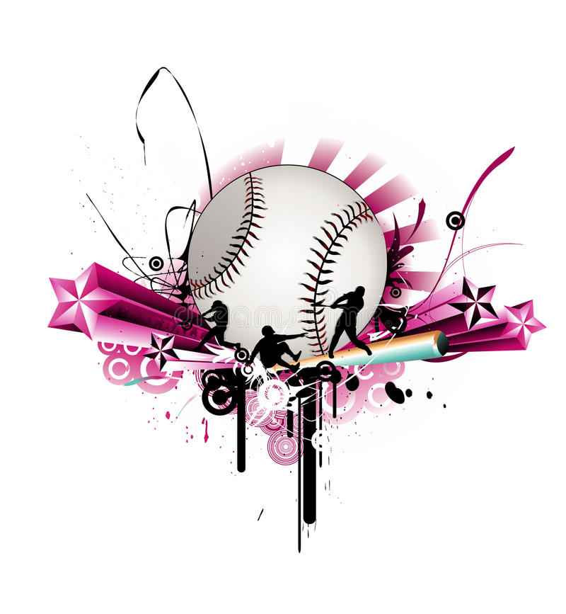 Baseballvektorabbildung stock abbildung