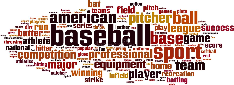 Baseballwortwolke vektor abbildung