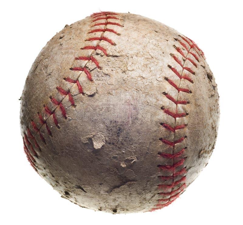 Basebol com costura vermelha fotos de stock royalty free