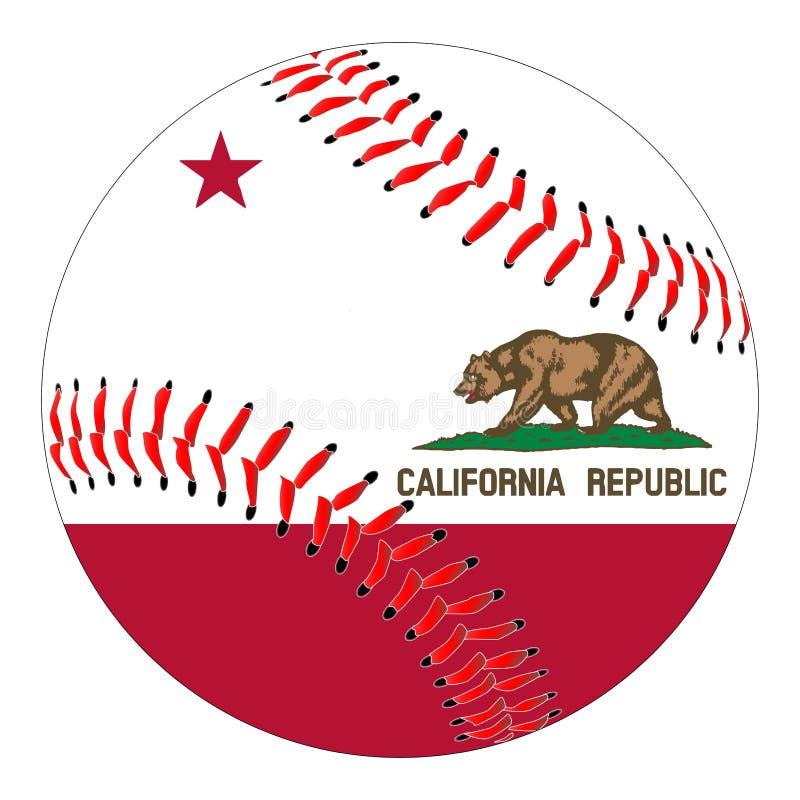 Basebol da bandeira de Califórnia ilustração stock