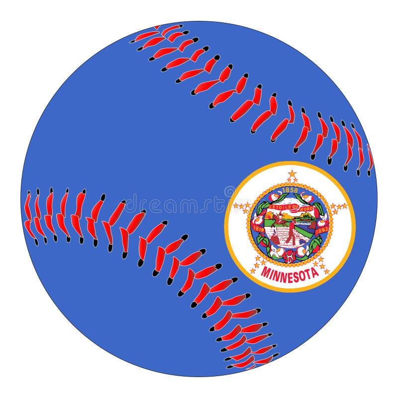 Basebol da bandeira de Minnesota ilustração stock