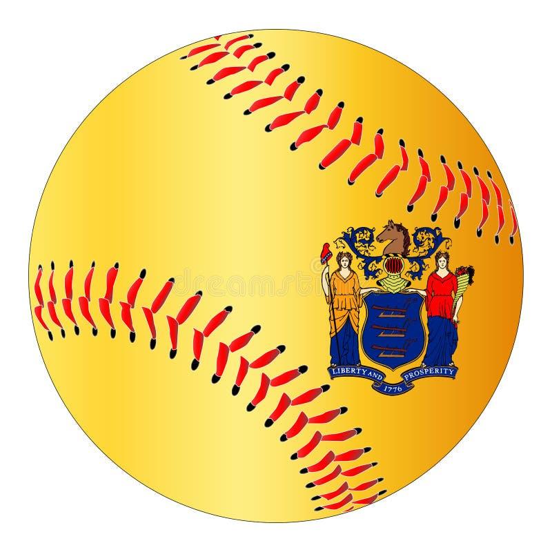 Basebol da bandeira de New-jersey ilustração do vetor