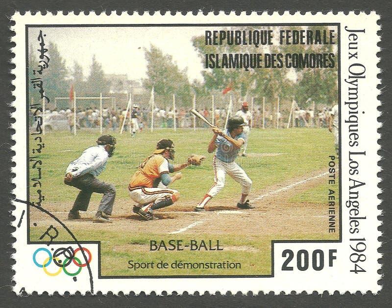 Basebol dos Olympics de verão fotografia de stock royalty free