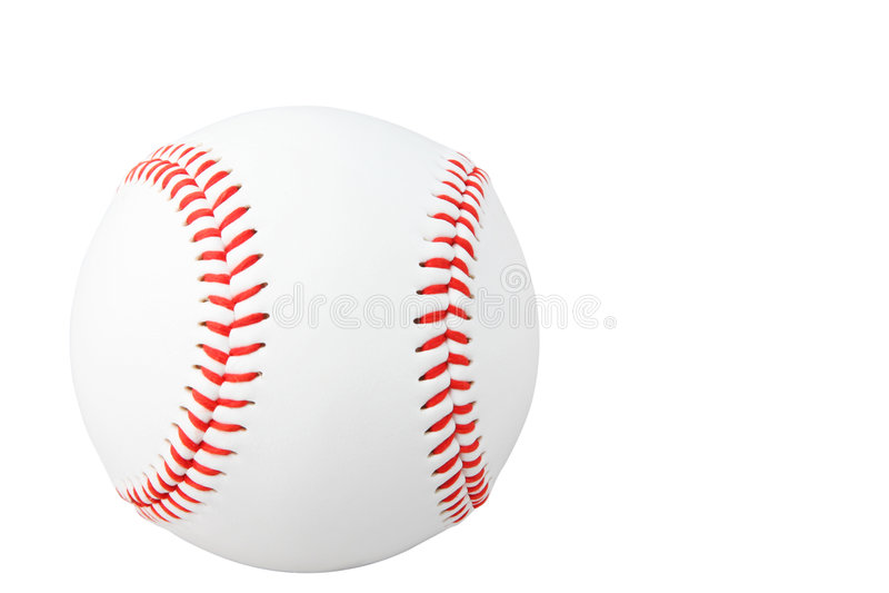Basebol isolado no branco fotografia de stock