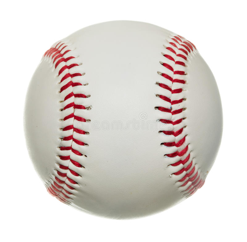 Basebol isolado no fundo branco imagem de stock