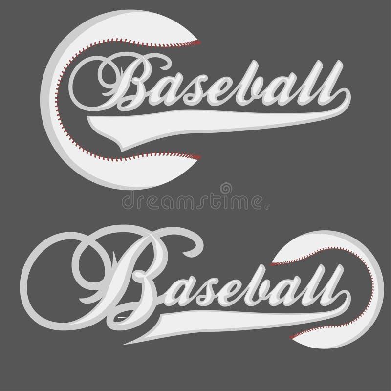 Basebol Logotpe ilustração royalty free