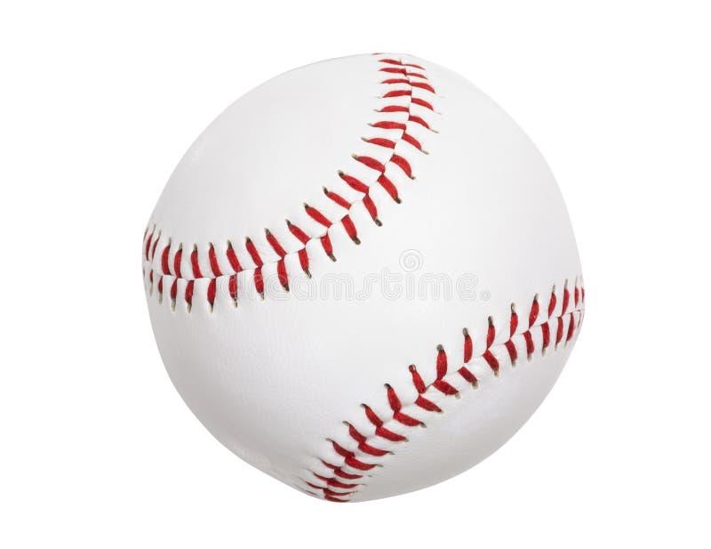 Basebol novo isolado com trajeto de grampeamento fotografia de stock