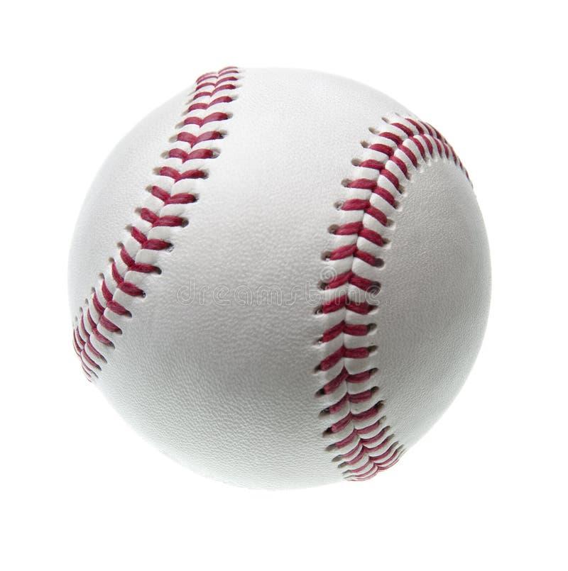 Basebol novo isolado no branco foto de stock