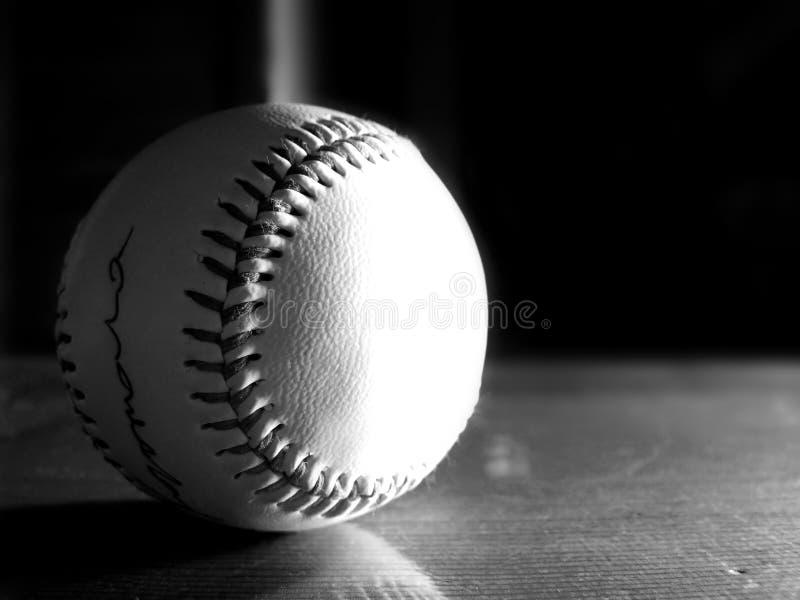 Basebol preto e branco fotografia de stock royalty free