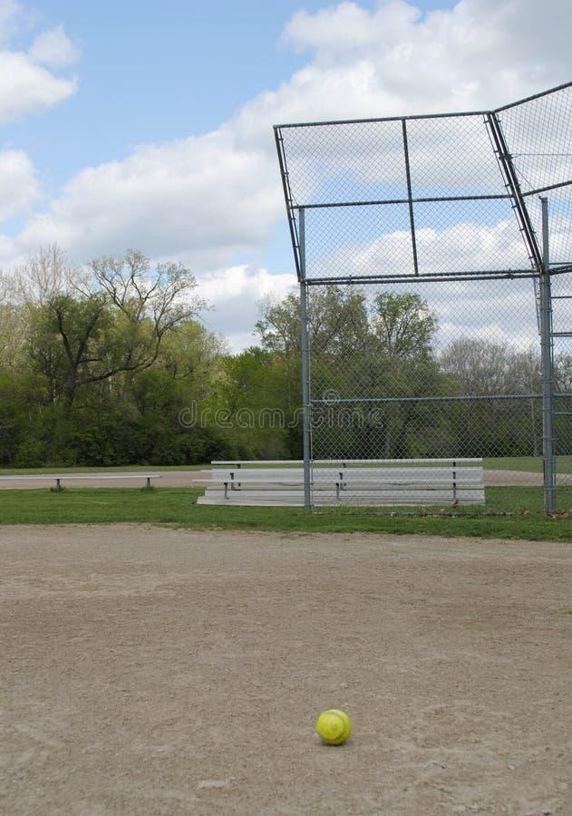 Basebol solitário fotografia de stock
