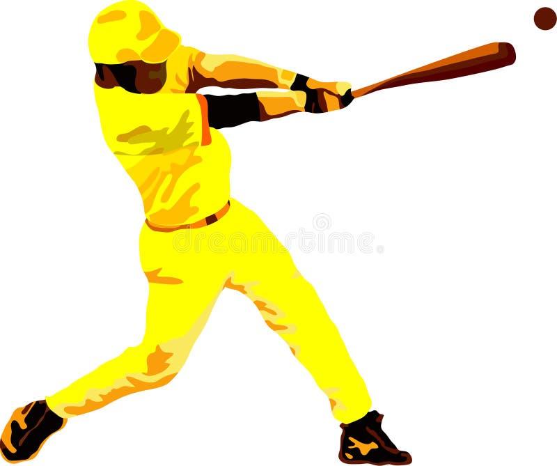 basebollspelare stock illustrationer