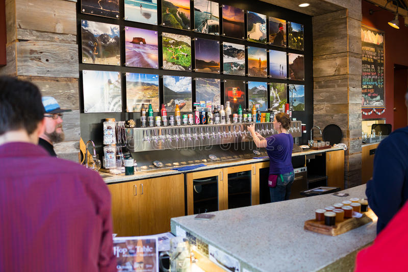 Basecamp Brewing Company Portland Orégon photo stock