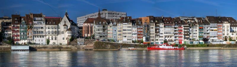 basel mieści Switzerland panoramicznego nabrzeże zdjęcia royalty free