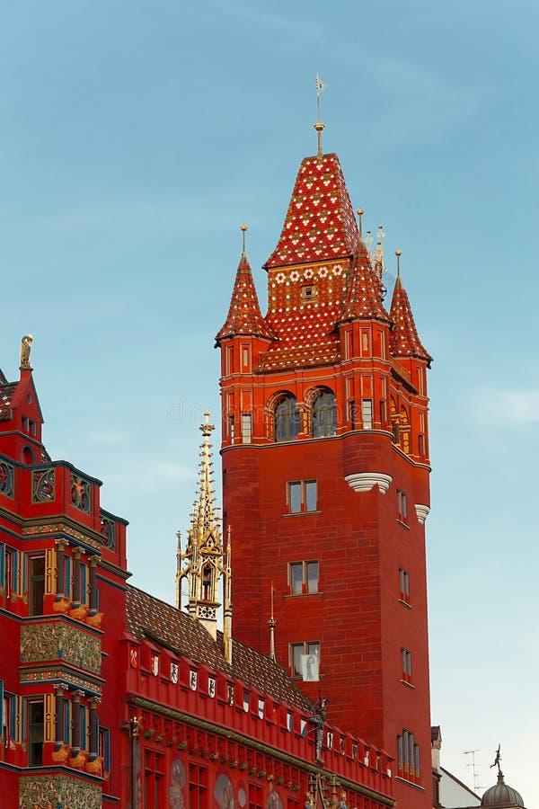 Basel urząd miasta zdjęcie royalty free