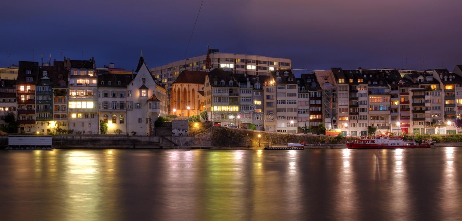Download Basel Waterfront On Rhine River, Switzerland Stock Photo - Image: 10806852