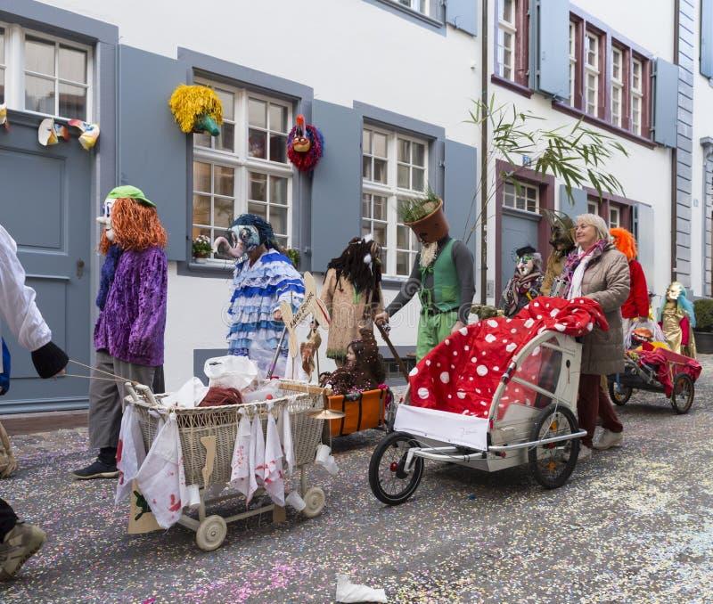 Baselkarneval 2017 arkivfoto