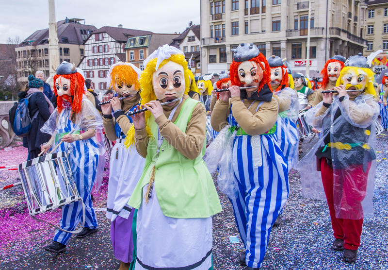 Baselkarneval 2017 arkivfoton