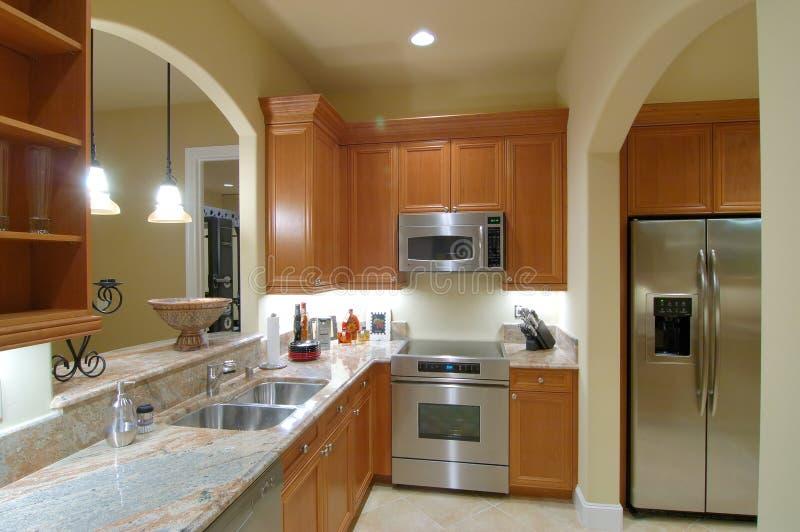 Basement Kitchen royalty free stock photography