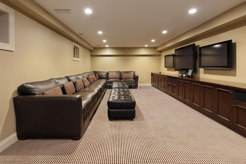 Basement of luxury home royalty free stock photos