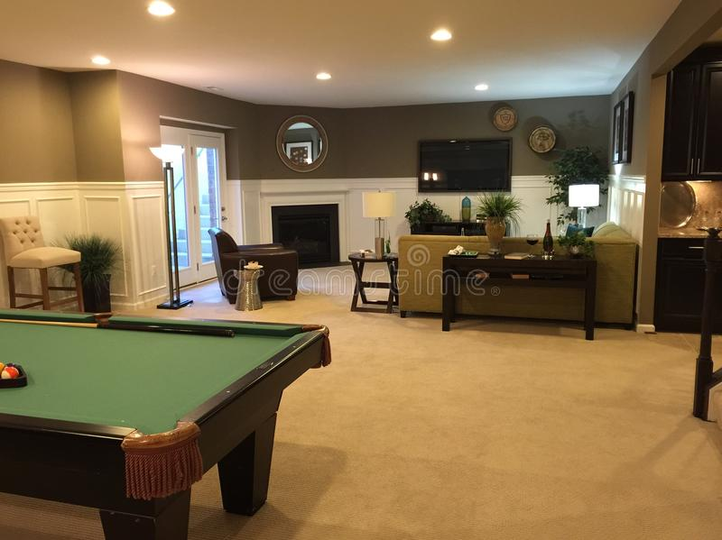 basement pool table. Plain Basement Download Basement With Pool Table Stock Photo Image Of Pool   53056980 With Pool Table