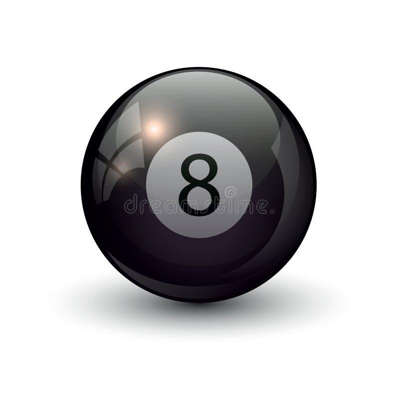 Basenów billiards osiem piłka fotografia stock