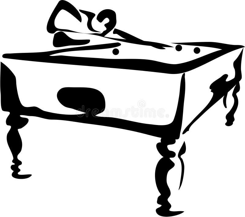 basen gracza royalty ilustracja