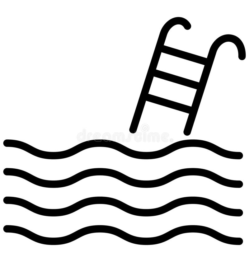 Basen Odizolowywał Wektorową ikonę która może być łatwo redaguje lub modyfikuje ilustracji