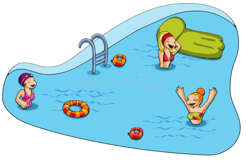basen opływa royalty ilustracja