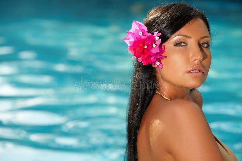 basen pływający kobieta fotografia stock