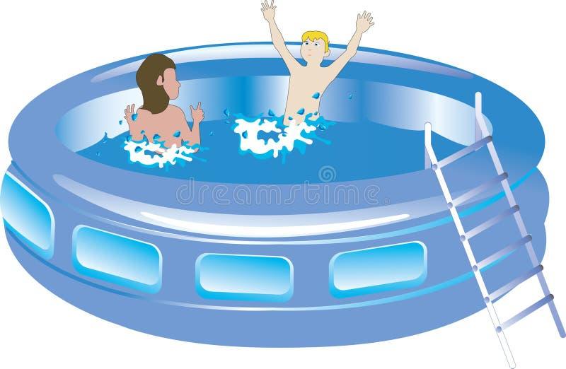 basen pływanie z tworzywa sztucznego dzieciaka. ilustracji