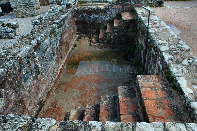 basen rzymskie ruiny zdjęcie royalty free