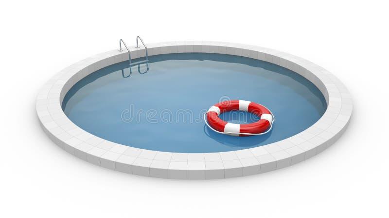 Basen z lifebuoy ilustracja wektor
