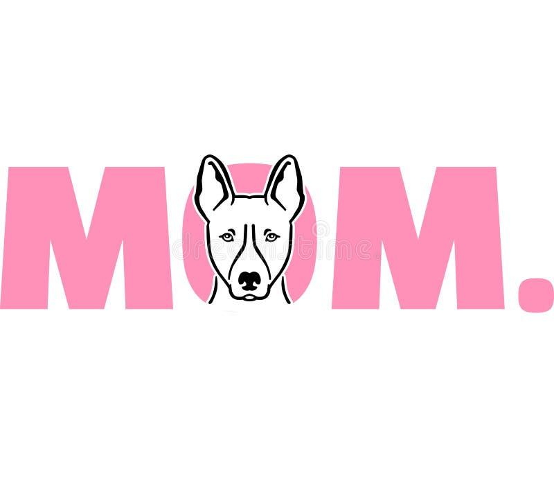 Basenjimamma in roze royalty-vrije illustratie